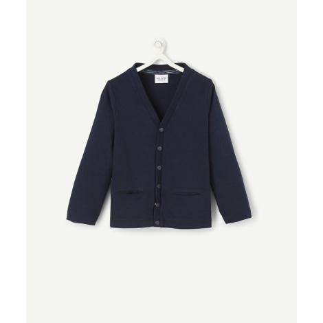 Gilet, cardigan TAPE À L'OEIL Bleu, bleu marine, bleu turquoise