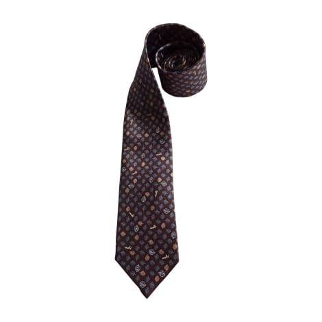 Cravate LANVIN Marron