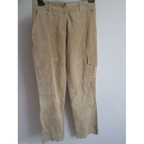 Pantalon large OLD ENGLAND Beige, camel