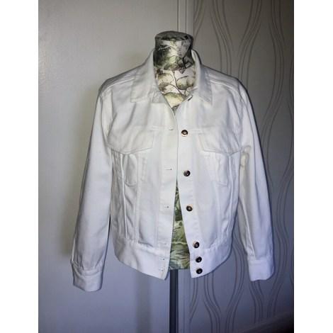 Veste en jean H&M Blanc, blanc cassé, écru