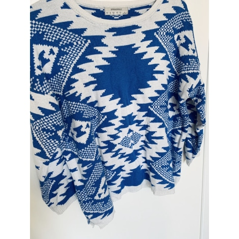 Pull SPRINGFIELD Bleu, bleu marine, bleu turquoise