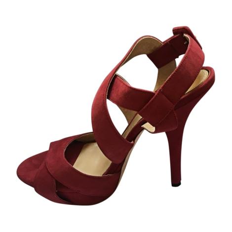 Sandales à talons DOLCE & GABBANA Rouge, bordeaux