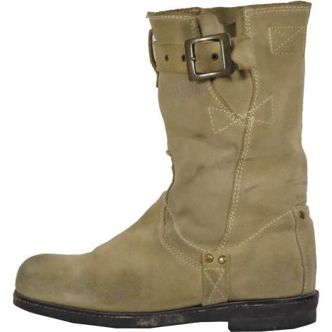 Bottines & low boots motards PALLADIUM Beige, camel