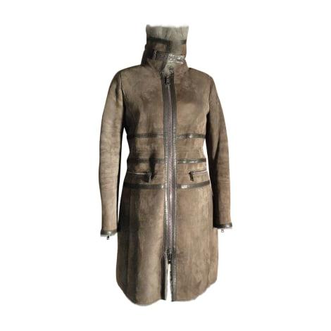 Manteau en fourrure EMPORIO ARMANI Marron