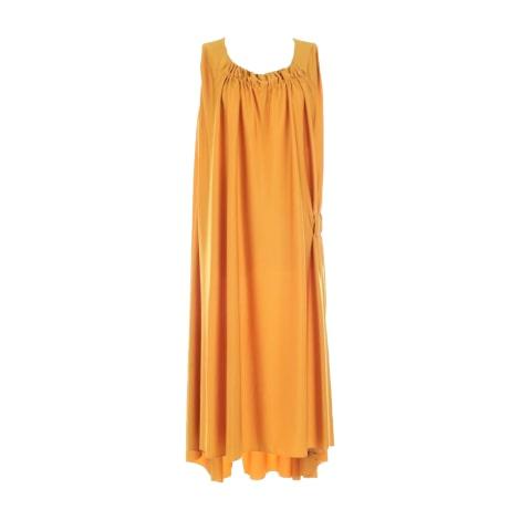 Robe longue YVES SAINT LAURENT Jaune