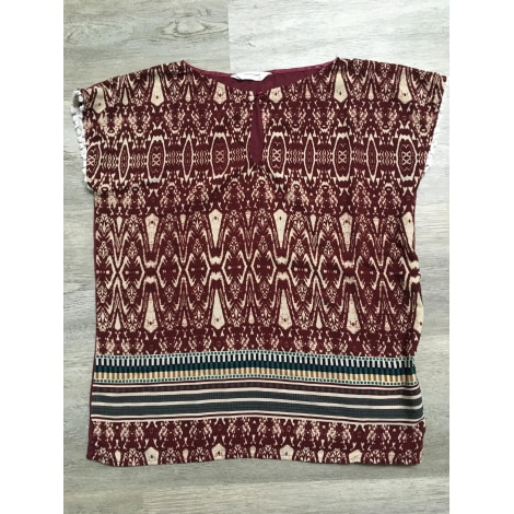 Top, tee-shirt NAF NAF Rouge, bordeaux