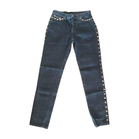 Jeans large, boyfriend DOLCE & GABBANA Bleu, bleu marine, bleu turquoise