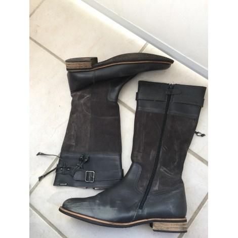 Flat Boots GARVALIN Gray, charcoal