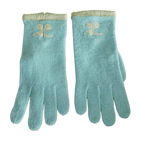 Gants COURRÈGES Bleu, bleu marine, bleu turquoise