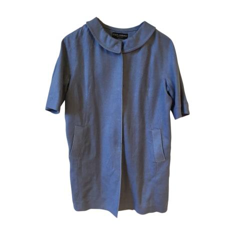 Manteau DOLCE & GABBANA Bleu, bleu marine, bleu turquoise