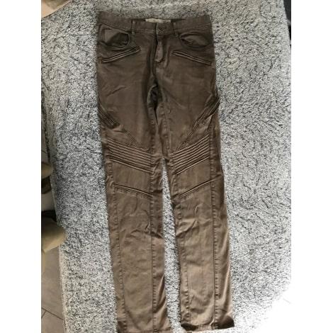 Pantalon droit IKKS Marron