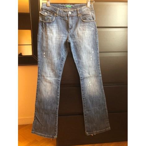 Jeans droit UNITED COLORS OF BENETTON Bleu, bleu marine, bleu turquoise