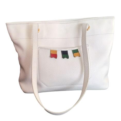Ledertasche groß LONGCHAMP Weiß, elfenbeinfarben