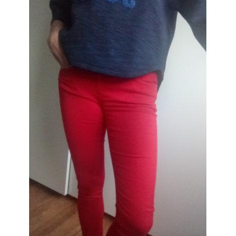 Pantalon slim, cigarette COP-COPINE Rouge, bordeaux