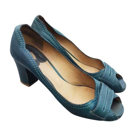 Escarpins à bouts ouverts CHLOÉ Bleu, bleu marine, bleu turquoise