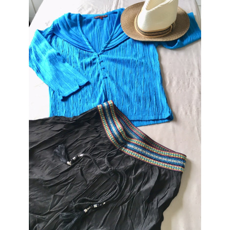 Gilet, cardigan LA MANUFACTURE DE TRICOTAGE Bleu, bleu marine, bleu turquoise