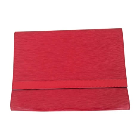 Porte documents, serviette LOUIS VUITTON Rouge, bordeaux