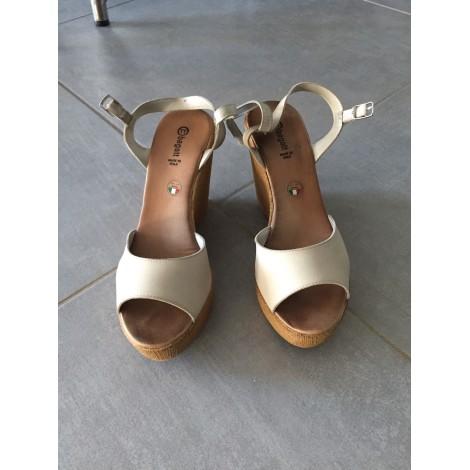 Sandales compensées BAGATT Gris, anthracite