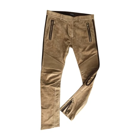 Pantalon slim BALMAIN Beige, camel