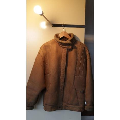Manteau en cuir PON'S PIEL Beige, camel