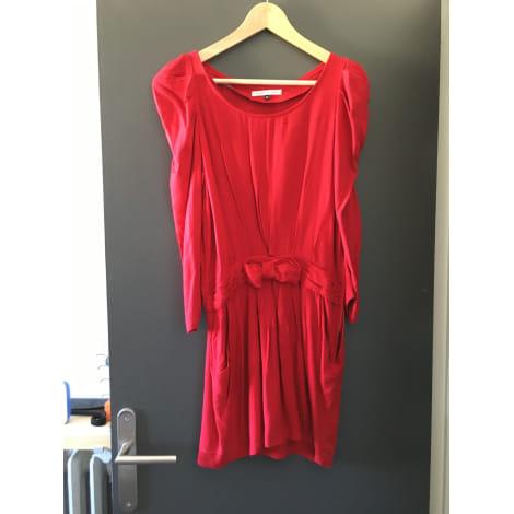 Robe courte LA PETITE FRANÇAISE Rouge, bordeaux