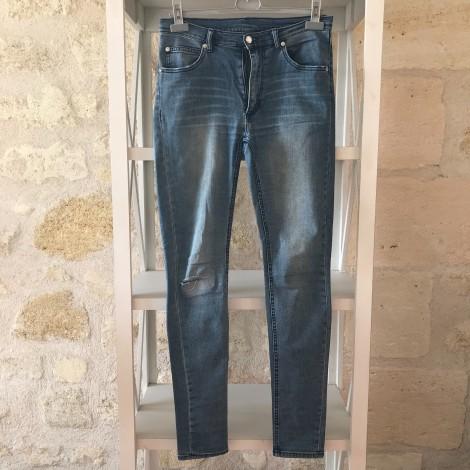 Jeans slim CHEAP MONDAY Bleu, bleu marine, bleu turquoise