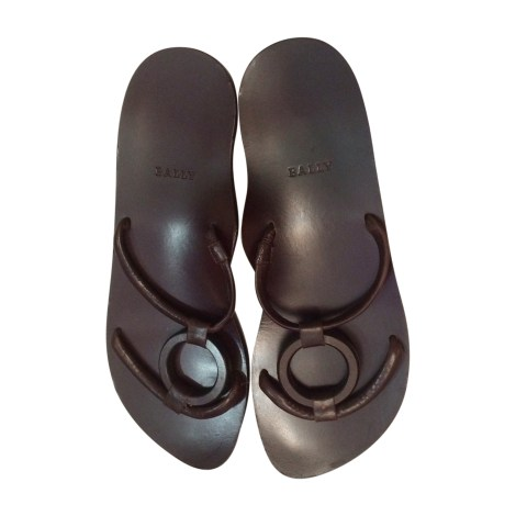 Sandales plates  BALLY Marron