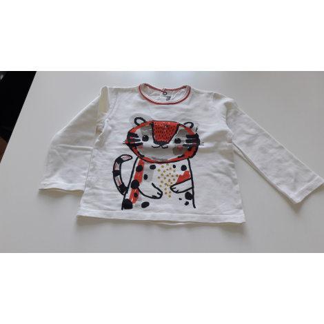 Tee-shirt CATIMINI Blanc, blanc cassé, écru