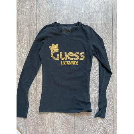 Top, tee-shirt GUESS Doré, bronze, cuivre