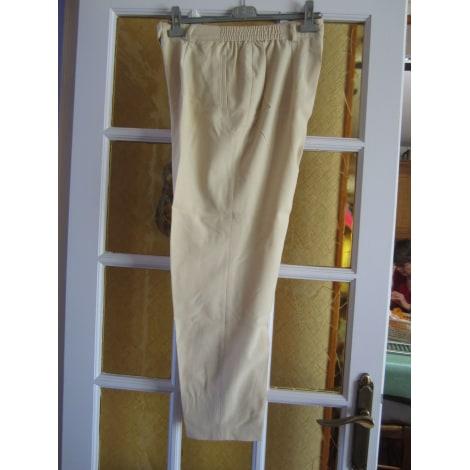 Pantalon droit LUCIA Beige, camel