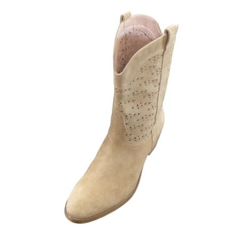 High Heel Ankle Boots GERARD DAREL Beige, camel