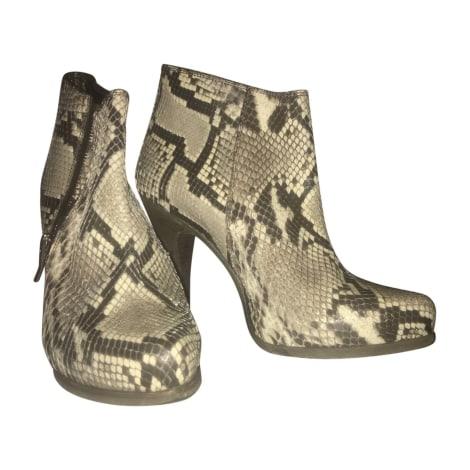 Bottines & low boots à talons BARBARA BUI Blanc, blanc cassé, écru