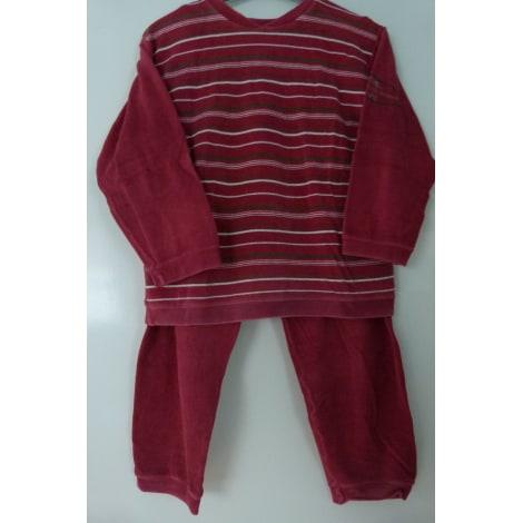 Pyjama PETIT BATEAU Rouge, bordeaux