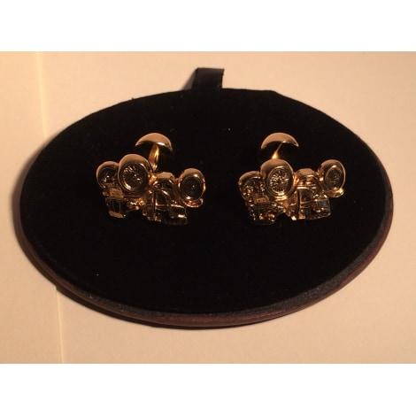 Cufflinks L'AIGLON Golden, bronze, copper