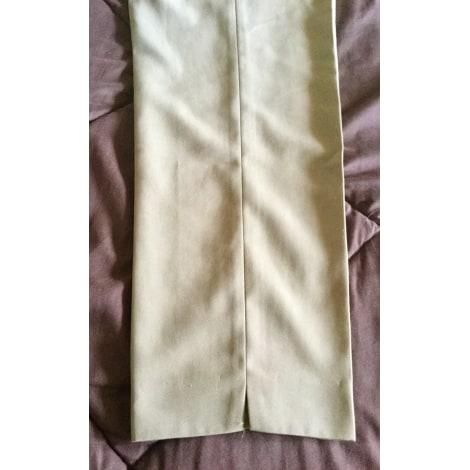Pantalon droit SYM Beige, camel