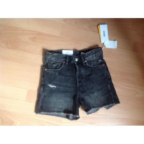Short en jean H&M Noir
