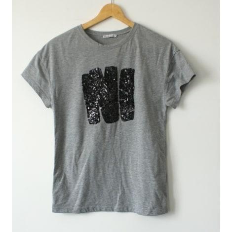 Top, tee-shirt ZARA Gris, anthracite