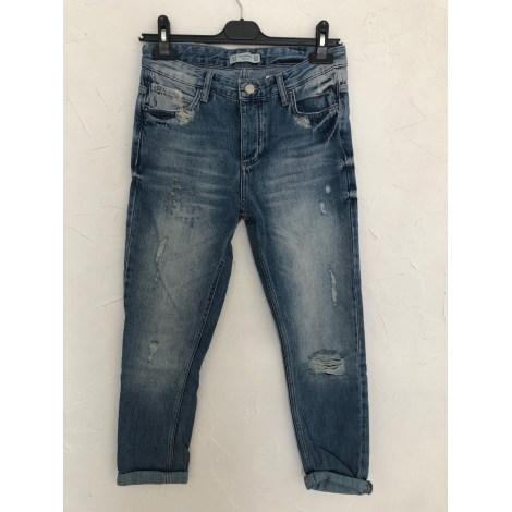 Jeans large, boyfriend PULL & BEAR Bleu, bleu marine, bleu turquoise