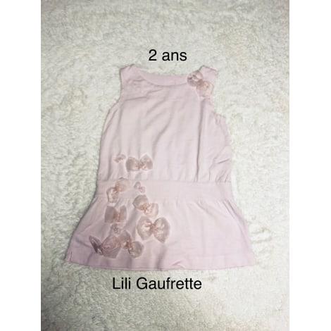 Robe LILI GAUFRETTE Rose pale