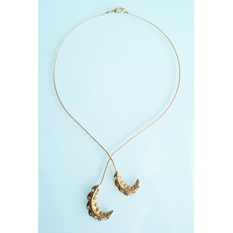 Pendentif, collier pendentif LANVIN Doré, bronze, cuivre
