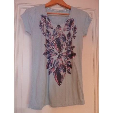 Top, tee-shirt RICH & ROYAL Bleu, bleu marine, bleu turquoise