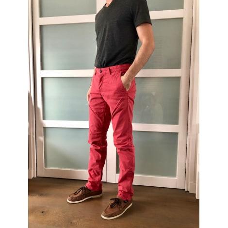 Pantalon droit JULES Rouge, bordeaux