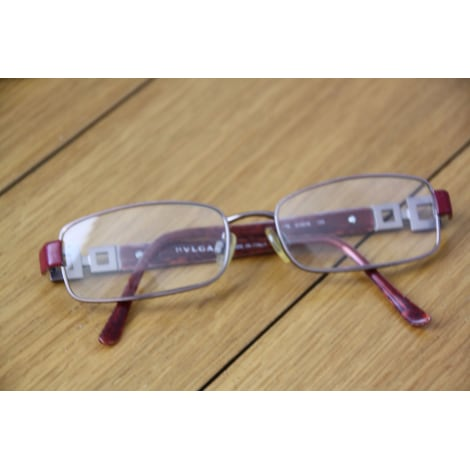 Monture de lunettes BULGARI Rouge, bordeaux