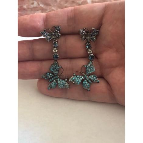 Boucles d'oreille MARQUE INCONNUE Bleu, bleu marine, bleu turquoise