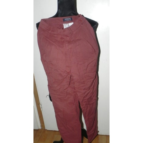 Pantalon droit MAX MARA Rouge, bordeaux