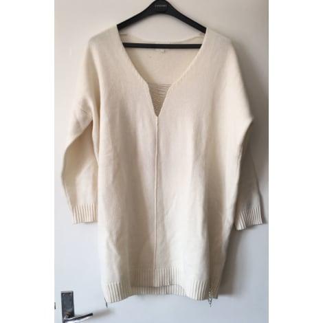 Pull tunique BEL AIR Blanc, blanc cassé, écru