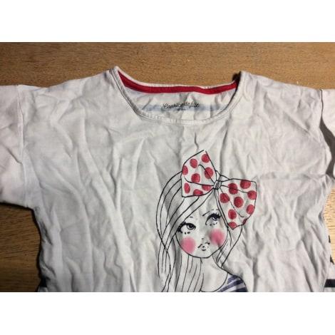 Top, Tee-shirt CAPRICE DE FILLE Blanc, blanc cassé, écru