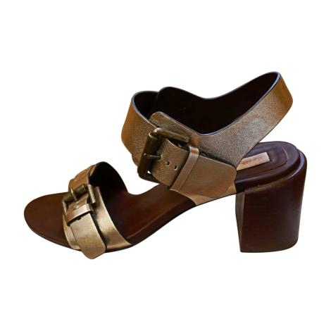 Sandales à talons SEE BY CHLOE Doré, bronze, cuivre