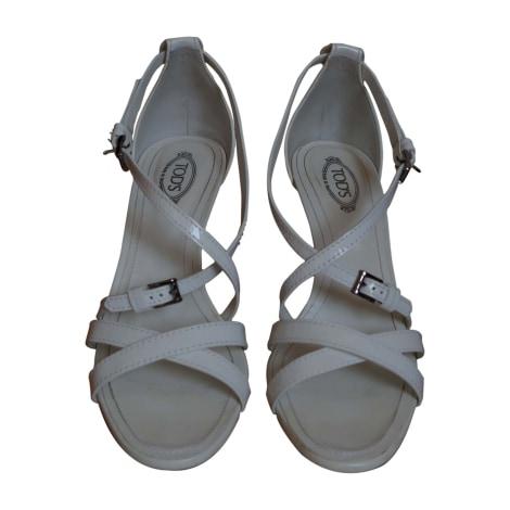 Sandales à talons TOD'S Blanc, blanc cassé, écru