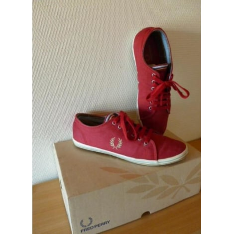 Baskets FRED PERRY Rouge, bordeaux